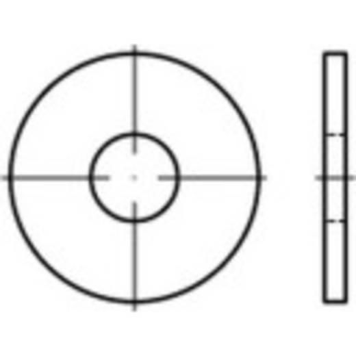 TOOLCRAFT 146474 Onderlegringen Binnendiameter: 10.5 mm DIN 9021 Staal galvanisch verzinkt, geel gechromateerd 250 stuks