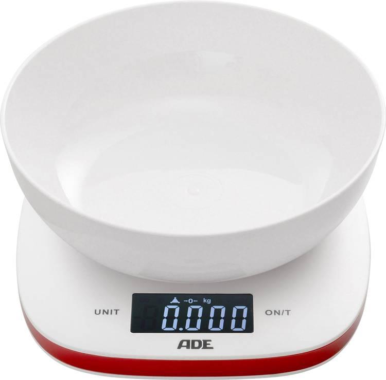 Image of Keukenweegschaal Digitaal, Met schaalverdeling ADE KE 1412 Amelie Weegbereik (max.)=5 kg Wit-rood