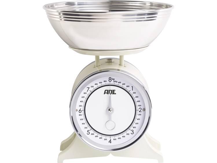 ADE KM 1500 Anna Keukenweegschaal Analoog. Met schaalverdeling Weegbereik (max.): 8 kg Creme
