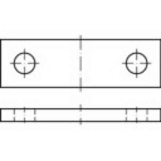 TOOLCRAFT Assteun DIN 15058 10 mm Staal 25 stuks