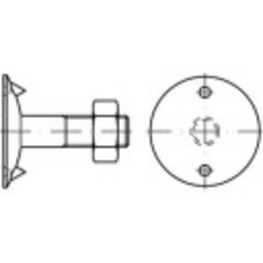 TOOLCRAFT Plaat schroeven M12 60 mm Buitenzeskant (inbus) DIN 15237 Staal 100 stuks