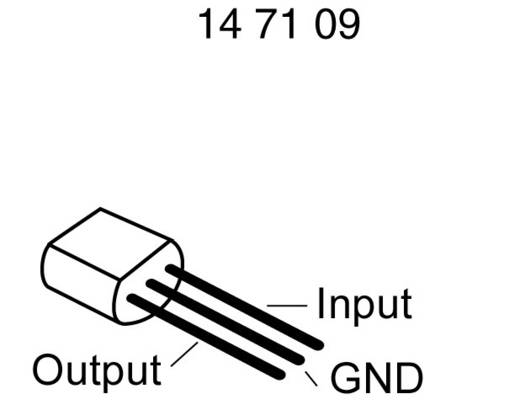 Spanningsregelaar - lineair, type 78 Texas Instruments UA78L06ACLPR TO-92-3 Positief Vast 6.2 V 100 mA