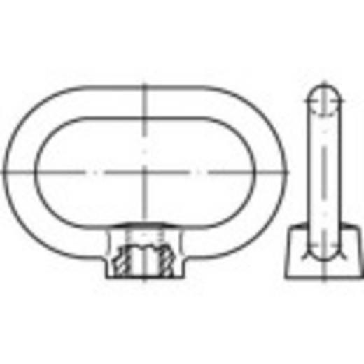 Beugelmoeren M16 DIN 28129 Staal galvanisch verzinkt 1 stuks TOOLCRAFT 147130