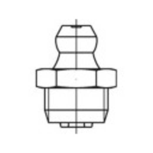 TOOLCRAFT Conische smeernippel DIN 71412 Staal galvanisch verzinkt kwaliteit 5.8 50 stuks