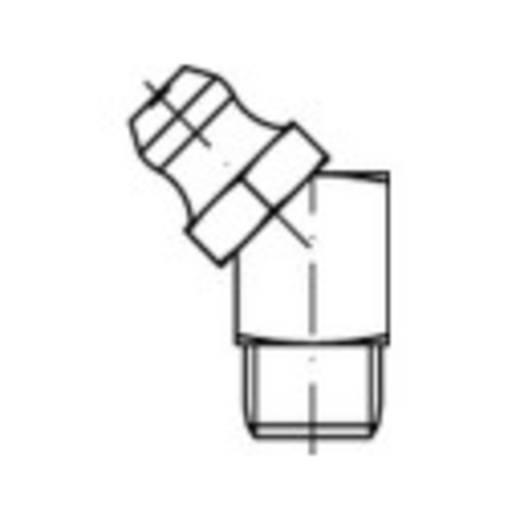 TOOLCRAFT Conische smeernippel DIN 71412 Staal galvanisch verzinkt kwaliteit 5.8 M6 100 stuks
