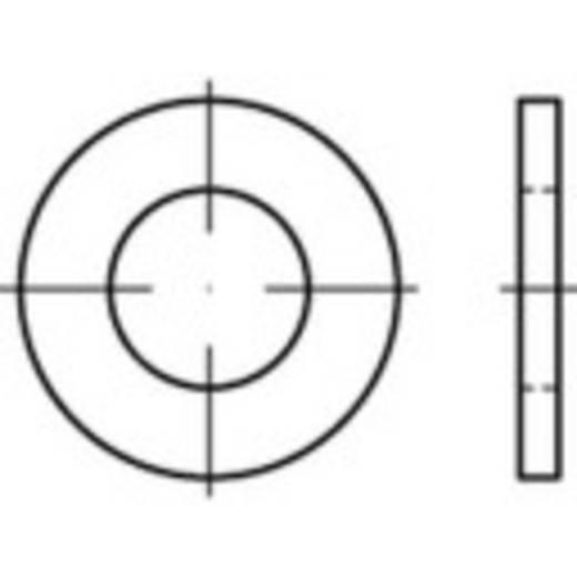 TOOLCRAFT 147790 Onderlegringen Binnendiameter: 21 mm ISO 7089 Staal 100 stuks