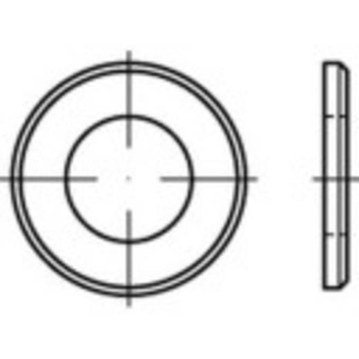 TOOLCRAFT 147933 Onderlegringen Binnendiameter: 5.3 mm ISO 7090 Staal galvanisch verzinkt, geel gechromateerd 1000 s