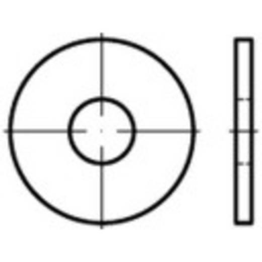 TOOLCRAFT 147978 Onderlegringen Binnendiameter: 17 mm ISO 7093 Staal 10 stuks