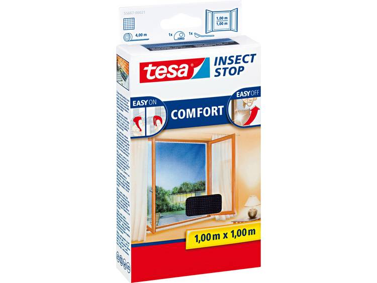 tesa Insect Stop Comfort 55667 21 Vliegenhor Antraciet 1 stuks