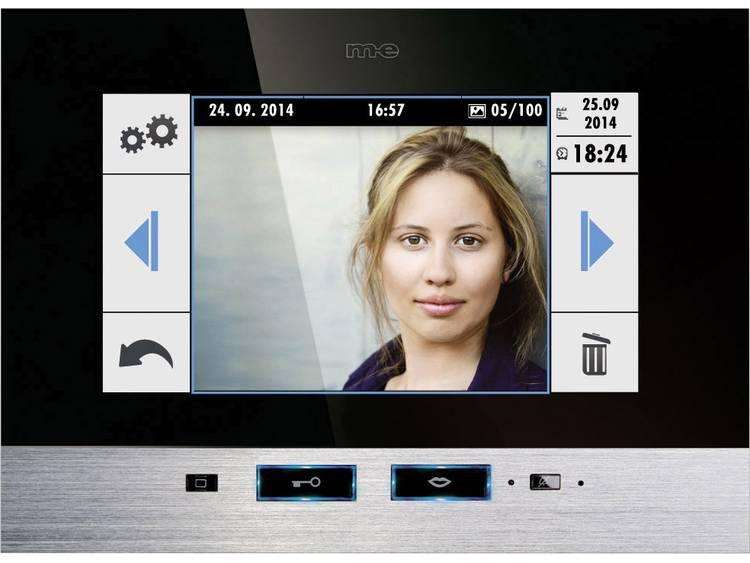 m-e modern-electronics 41022 Video-deurintercom Kabelgebonden Binnenunit voor Zwart, RVS
