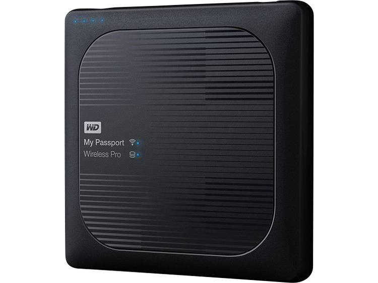 Western Digital My Passport⢠Wireless Pro 4 TB WiFi harde schijf USB 2.0, USB 3.0, Cardreader, WiFi 802.11 b/g/n/ac Zwart