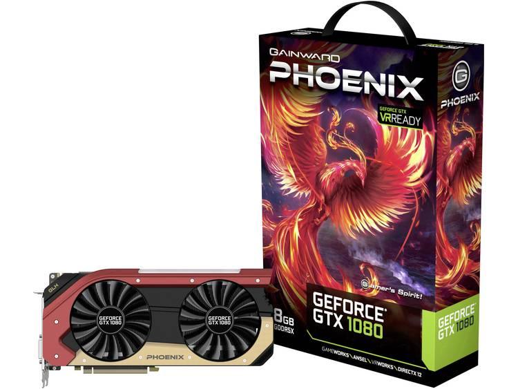 Videokaart Gainward Nvidia GeForce GTX1080 Phoenix GLH 8 GB GDDR5X-RAM PCIe x16 HDMI, DisplayPort, DVI