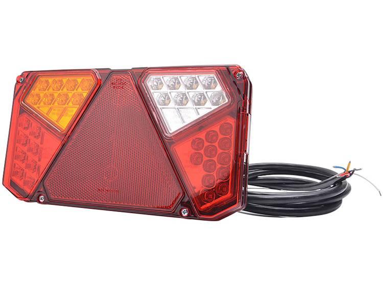 LED Aanhangerachterlicht Knipperlicht, Remlicht, Achterlicht, Reflector, Mistachterlicht, Achteruitrijlicht links, achter 12 V, 24 V SecoRüt Transparant