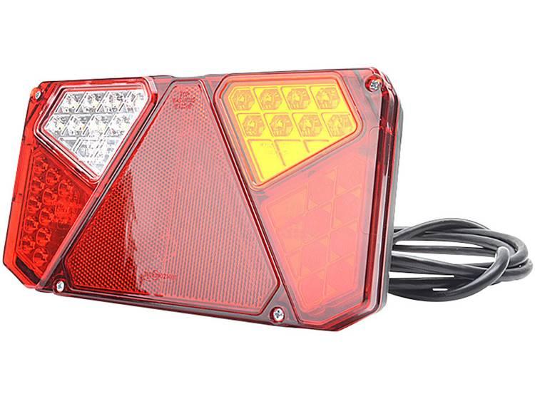 LED Aanhangerachterlicht Knipperlicht, Remlicht, Achterlicht, Reflector, Mistachterlicht, Achteruitrijlicht rechts, achter 12 V, 24 V SecoRüt Transparant