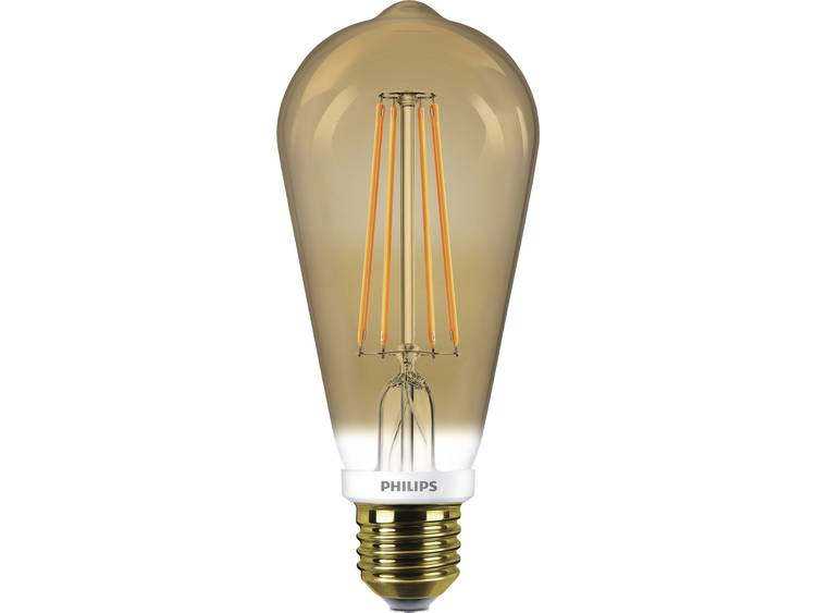 Philips LED-lamp Dimbaar, Filament-Retro-LED E27 7 W = 50 W Ballon 1 stuks