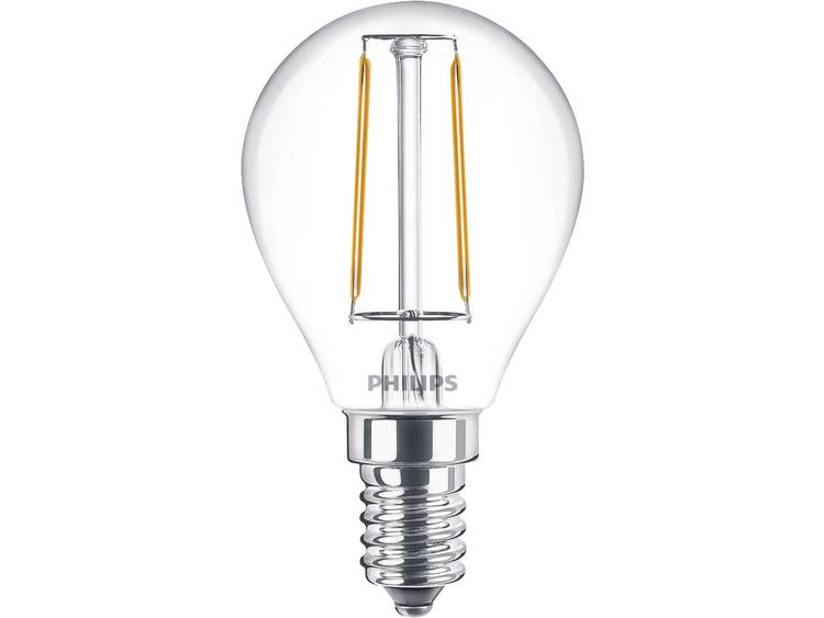 Philips LED-lamp Filament-Retro-LED E14 Warmwit 2 W = 25 W Kogel 1 stuks