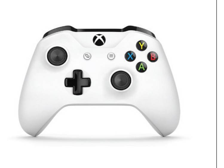 Microsoft Wireless White (Crete) Gamepad Xbox One, PC Wit, Zwart