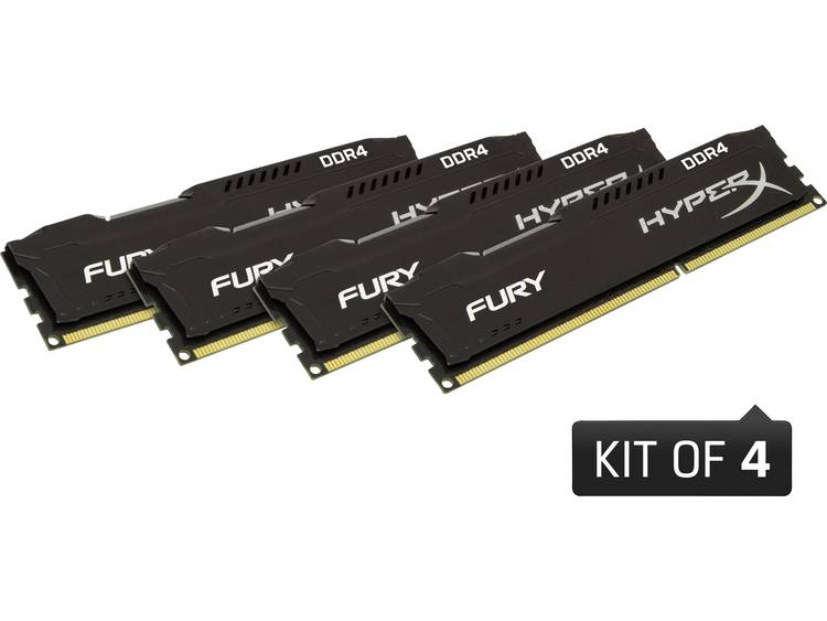 PC-werkgeheugen kit HyperX HX429C17FB2K4/32 HX429C17FB2K4/32 32 GB 4 x 8 GB DDR4-RAM 2933 MHz
