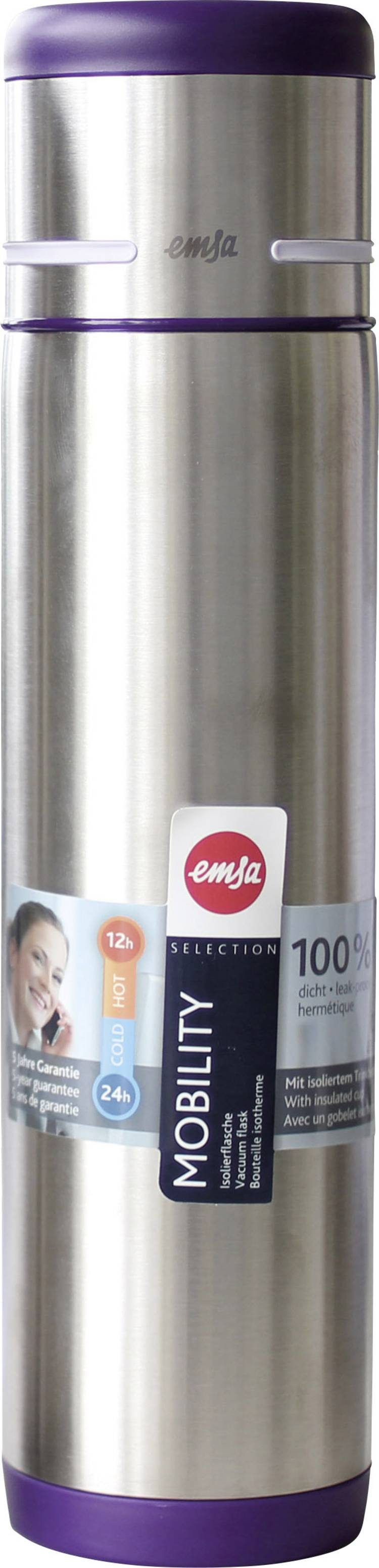 Image of Emsa-thermosfles Mobility, 1 liter, donkerpaars