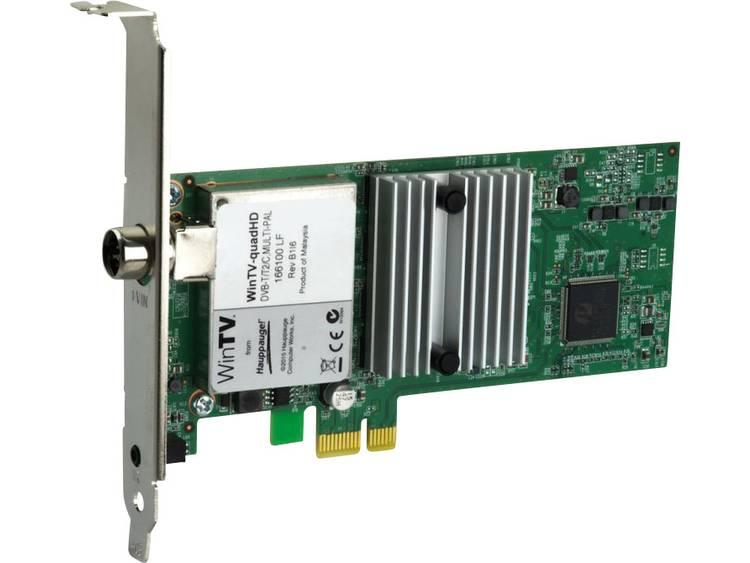 PCIe x1-kaart Hauppauge WinTV-quadHD Met afstandsbediening Aantal tuners: 4