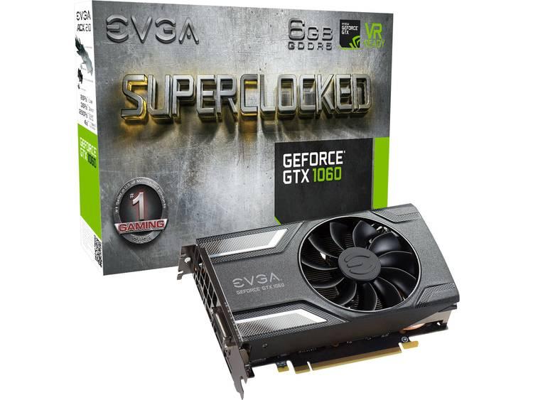 Videokaart EVGA Nvidia GeForce GTX1060 Superclocked 6 GB GDDR5-RAM PCIe x16 HDMI, DisplayPort, DVI