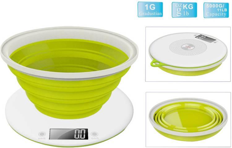 Image of Digitale keukenweegschaal Digitaal, Met schaalverdeling TKG Team Kalorik TKG EKS 1004 Weegbereik (max.)=5 kg Appelgroen
