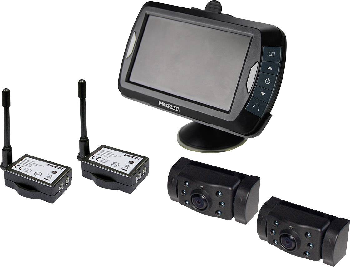 Draadloze achteruitrijcamera ProUser APR043x2 2 camera\'s, Extra IR ...