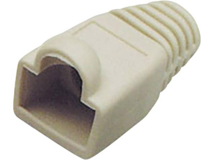 Knikbescherming voor RJ45 stekker Knikbeschermingsmof Grijs BKL Electronic 143057 1 stuks