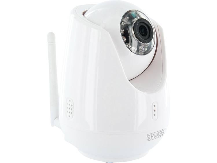 Schwaiger Schwaiger IP-Kamera innen WLAN met Motorkontrolle wit (ZHK18)