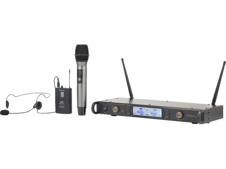 Renkforce BM-7200 Draadloze microfoonset Radiografisch Incl. kabel