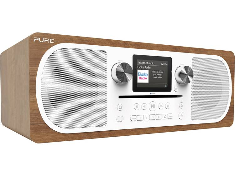 Pure Evoke C-F6 Tafelradio met internetradio DAB+, FM AUX, Bluetooth, CD, Intern