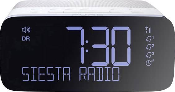 pure dab wekkerradio dab fm usb wit zwart. Black Bedroom Furniture Sets. Home Design Ideas