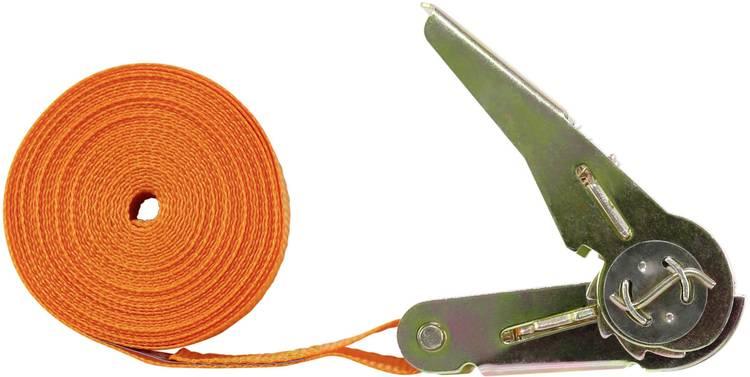 Spanband (eendelig) Trekkracht (lc) vastbinden (enkel direct)=250 daN (l x b) 5 m x 25 mm TOOLCRAFT 1493493