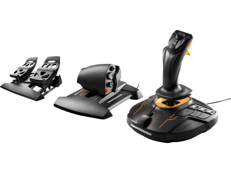 Thrustmaster T16000M FCS Flight Pack Vliegsimulator joystick USB PC Zwart Incl.