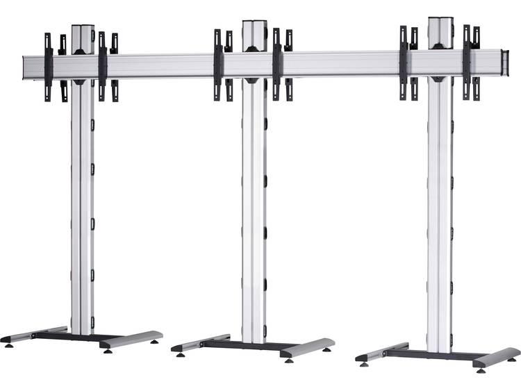 VCM Morgenthaler MOBIL-(1X3)-D 1x3: back-to-back Videowall standvoet 106,7 cm (42) - 139,7 cm (55) In hoogte verstelbaar, Kantelbaar