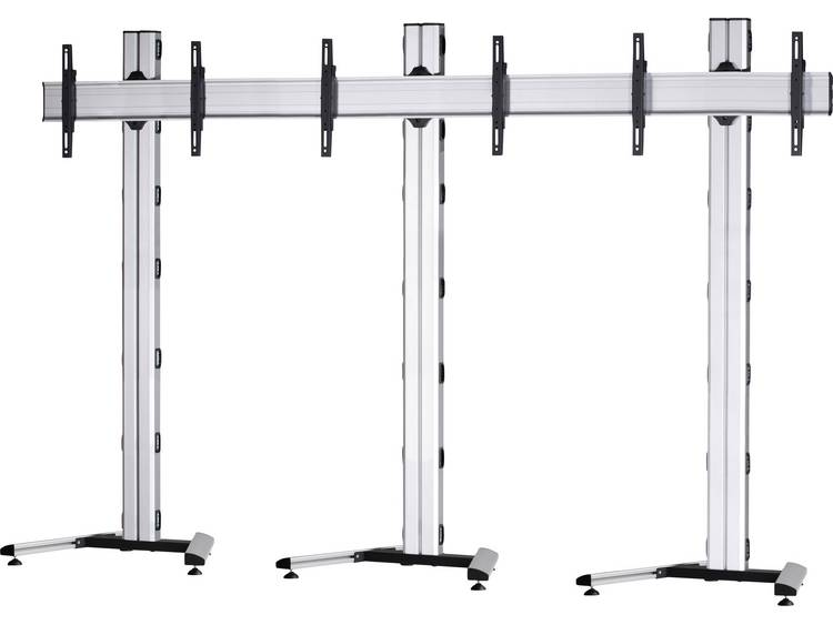 VCM Morgenthaler MOBIL-E-(1X3) 1x3 Videowall standvoet 106,7 cm (42) - 139,7 cm (55) In hoogte verstelbaar, Kantelbaar