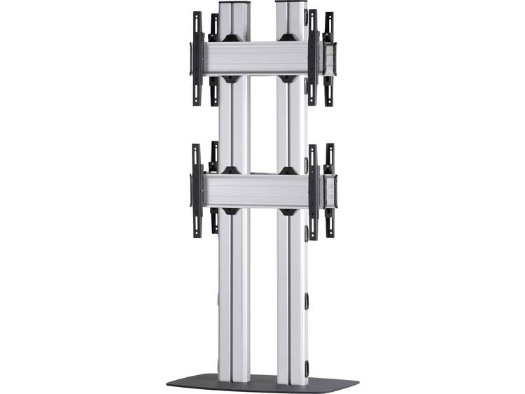 VCM Morgenthaler FLAT-E-(2X1)-D 2x1: back-to-back Videowall standvoet 106,7 cm (42) - 139,7 cm (55) In hoogte verstelbaar, Kantelbaar