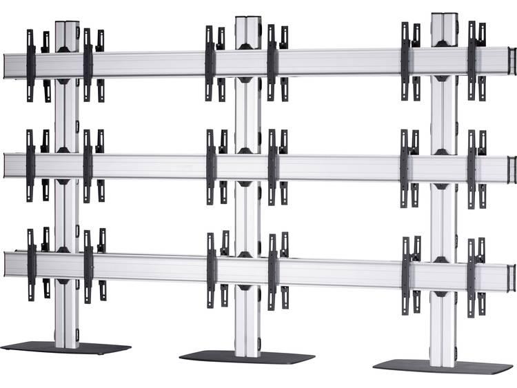 VCM Morgenthaler FLAT-(3X3)-D 3x3: back-to-back Videowall standvoet 106,7 cm (42) - 139,7 cm (55) In hoogte verstelbaar, Kantelbaar