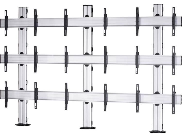 VCM Morgenthaler FIX-E-(3X3) 3x3 Videowall standvoet 106,7 cm (42) - 139,7 cm (55) In hoogte verstelbaar, Kantelbaar