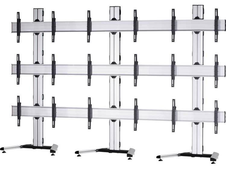 VCM Morgenthaler MOBIL-E-(3X3) 3x3 Videowall standvoet 106,7 cm (42) - 139,7 cm (55) In hoogte verstelbaar, Kantelbaar