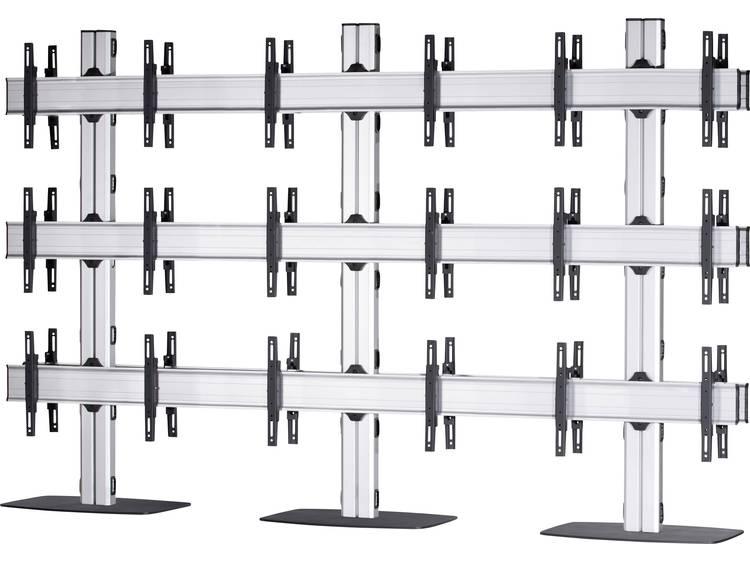 VCM Morgenthaler FLAT-E-(3X3)-D 3x3: back-to-back Videowall standvoet 106,7 cm (42) - 139,7 cm (55) In hoogte verstelbaar, Kantelbaar