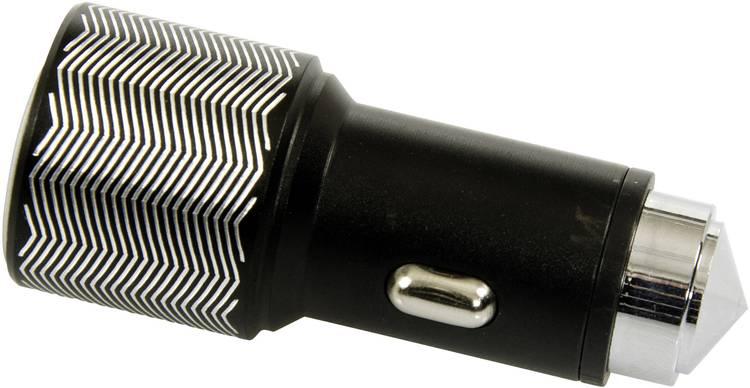 ACE 101498 Auto-oplader met 2 USB-aansluitingen en noodhamer Stroombelasting (max.): 3.1 A Geschikt voor Sigarettenaansteker. USB-A