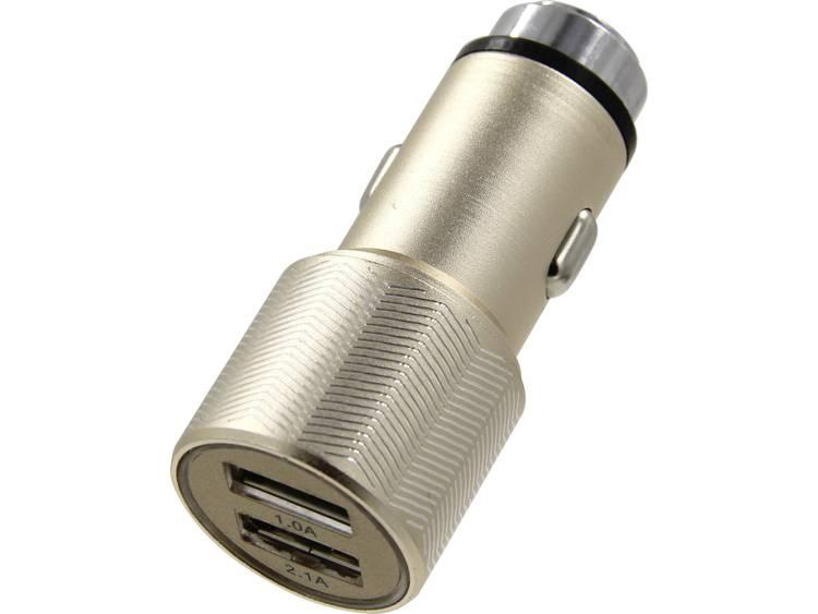 ACE 101499 Auto oplader met 2 USB aansluitingen en noodhamer Stroombelasting (max.) 3.1 A Geschikt voor Sigarettenaansteker, USB A