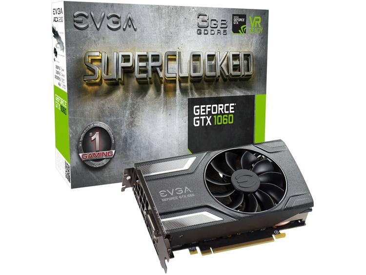 Videokaart EVGA Nvidia GeForce GTX1060 Superclocked 3 GB GDDR5-RAM PCIe x16 HDMI, DVI, DisplayPort