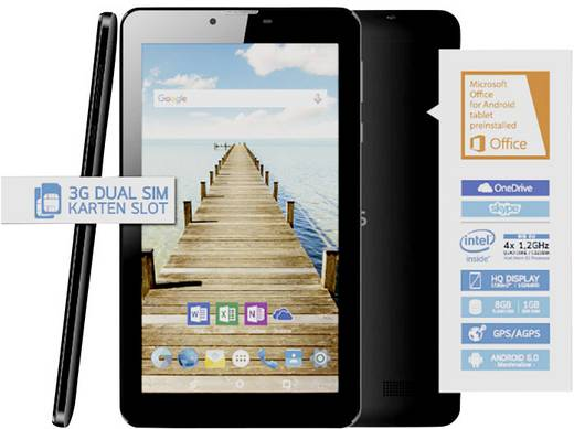 Odys Xelio C7 Plus Android-tablet 7 inch 8 GB WiFi, GSM/2G, UMTS/3G