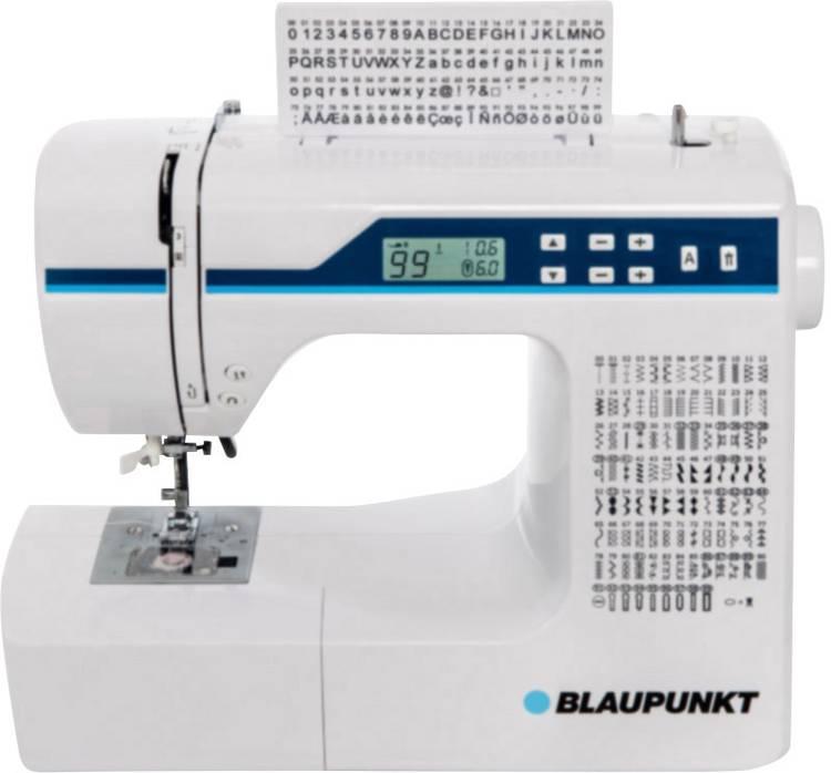 Naaimachine met vrije arm Blaupunkt Comfort 930 Met display. LED-lamp Wit. Lichtblauw
