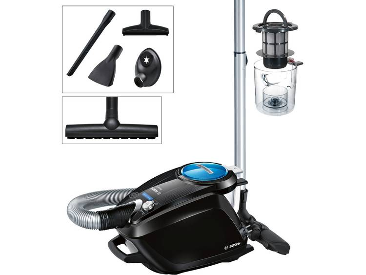 Bosch Haushalt BGS5SMRT66 Relaxxx ProSilence66 Stofzuiger zonder zak 700 W Zwart, Blauw