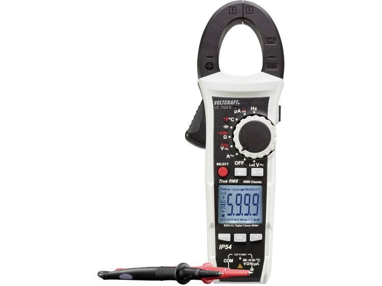 Stroomtang, Multimeter Digitaal VOLTCRAFT VC-740 E Kalibratie: Fabrieksstandaard (zonder certificaat) Spatdicht (IP54) CAT IV 600 V Weergave (counts): 6000