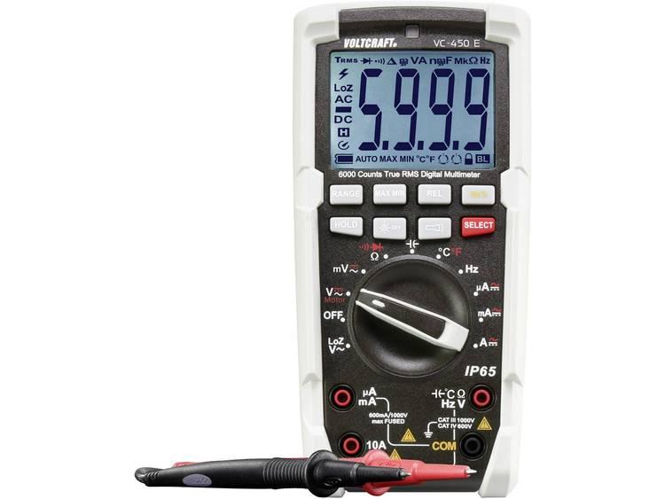 Multimeter Digitaal VOLTCRAFT VC-450 E Kalibratie: Fabrieksstandaard (zonder certificaat) Sproeidicht (IP65) CAT III 1000 V, CAT IV 600 V Weergave (counts):