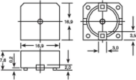 SMD-piëzo-alarmgever KMT-1261 Geluidsontwikkeling: 10 cm: 93 dB 3 - 20 V Inhoud: 1 stuks